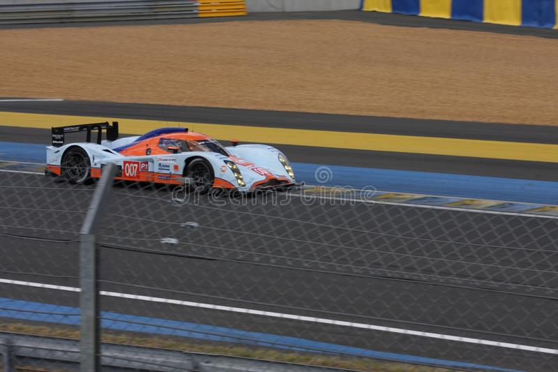 Strömkrets för tävlings- bilar Le Mans för tävlings- spår, snabbt lopp för snabb sportbil som rymms i Frankrike Europa royaltyfri fotografi