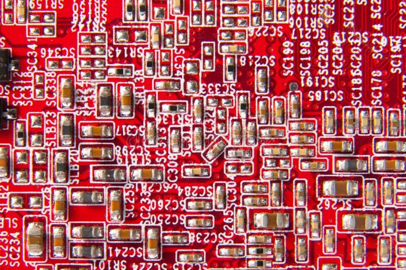 strömkretsdatormoderkort arkivfoton