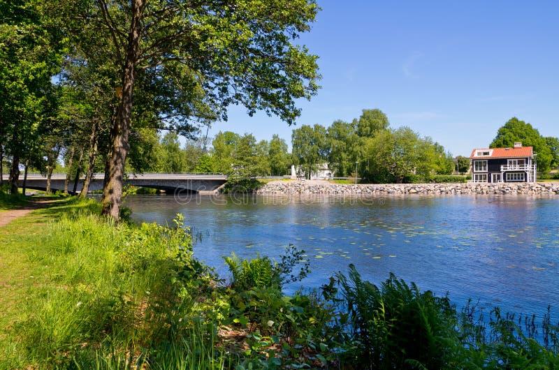Strömsnäsbruk. Zweden stock foto