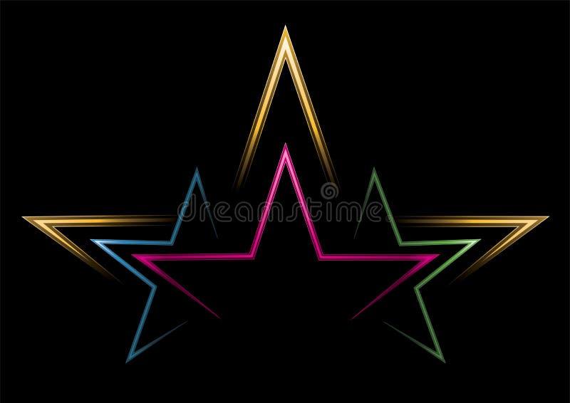 strömstjärnor stock illustrationer