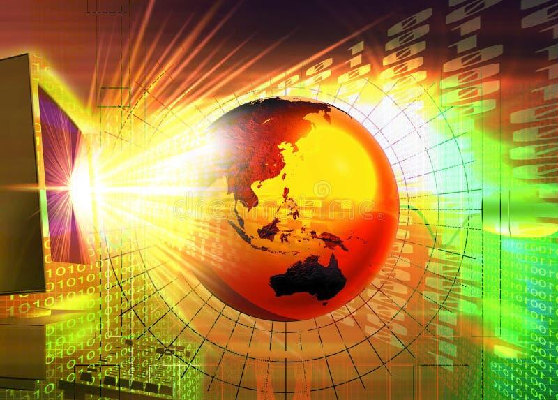 strömteknologi stock illustrationer
