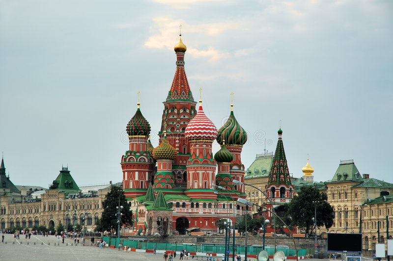 Str. Basilikum-Kathedrale (Kremlin, Moskau, Russland) lizenzfreie stockfotografie