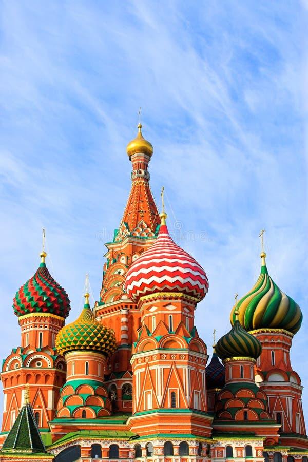 Str. Kathedrale des Basilikums auf rotem Quadrat lizenzfreie stockfotos