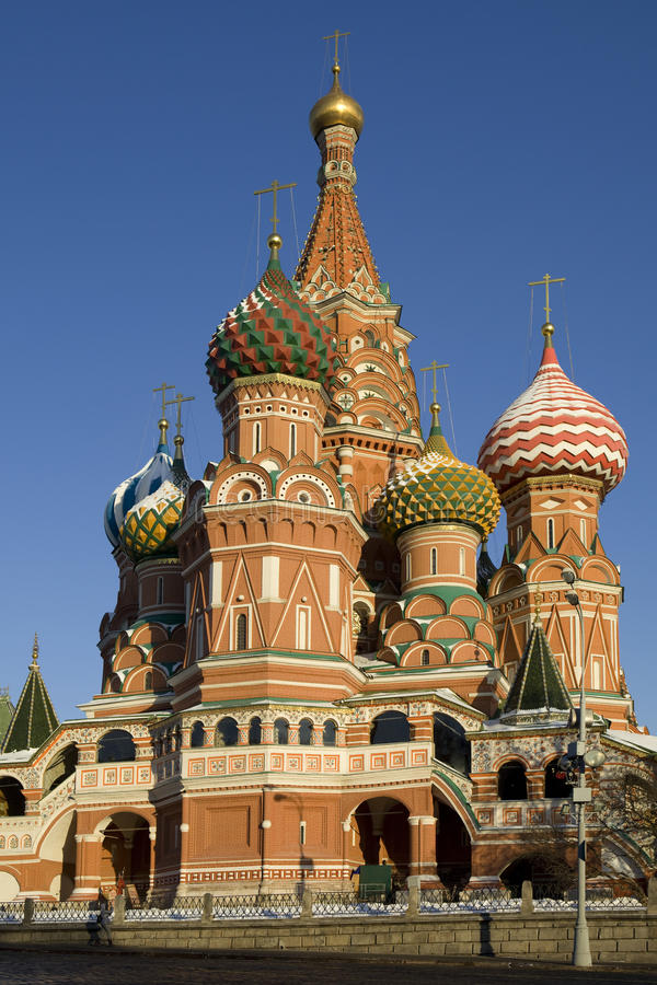 Str. Kathedrale des Basilikums auf rotem Quadrat, Moskau lizenzfreies stockbild