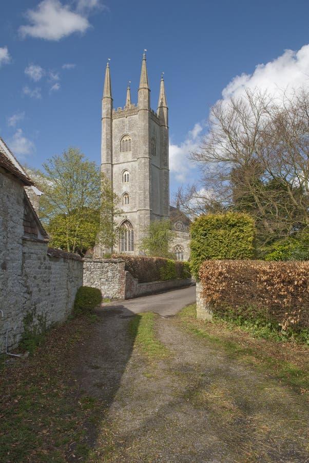 Str. Michael die Erzengelkirche, bloß, Wiltshire stockfoto
