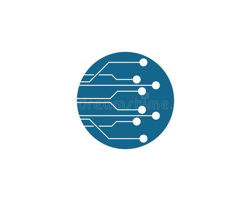 Str?mkrets Logo Template vektor illustrationer