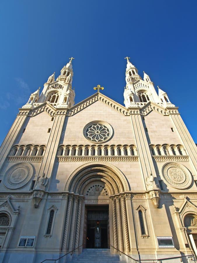 Str. Peter u. Paul-Kirche in San Francisco lizenzfreies stockfoto