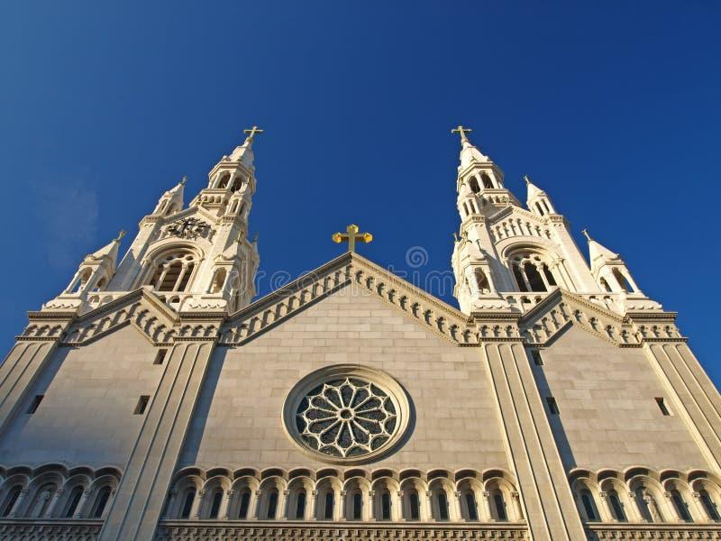 Str. Peter u. Paul-Kirche in San Francisco stockbild