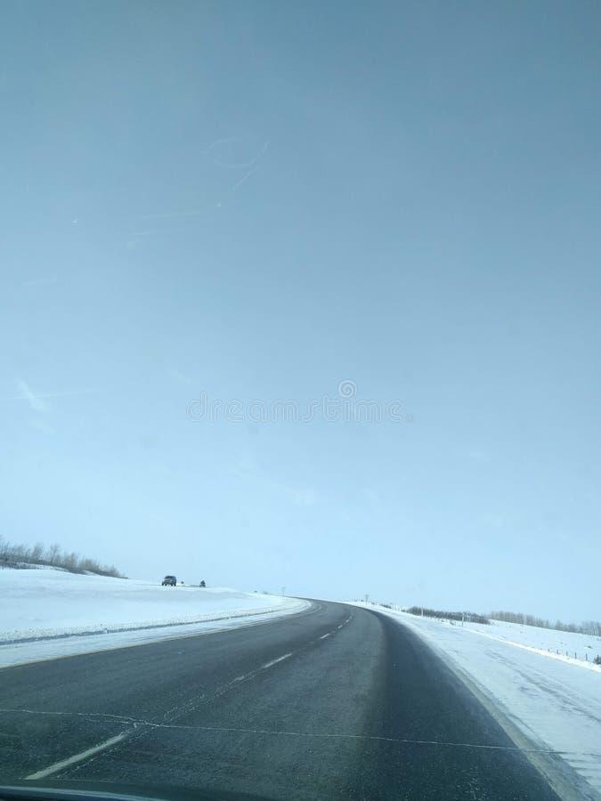 Str?va omkring runt om Banff, Alberta, Calgary i vinter royaltyfria foton