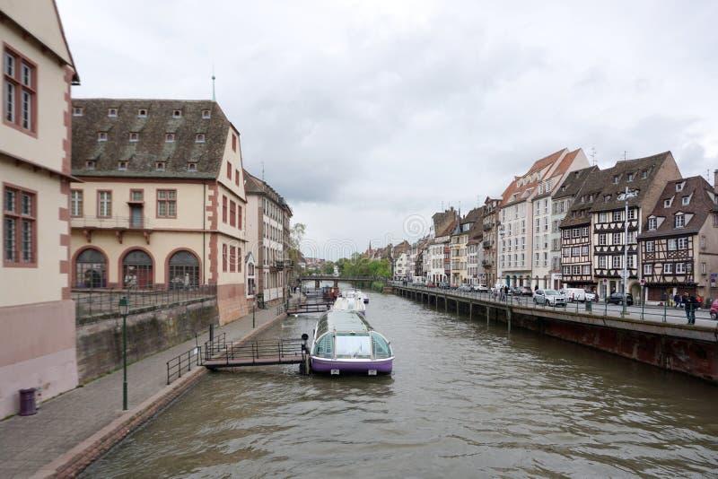 Straßburg, Frankreich - 3. Mai 2016: Schöne alte Stadt von Strasbour lizenzfreies stockfoto