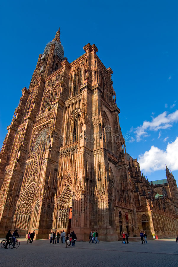 Straßburg-Kathedrale stockbilder