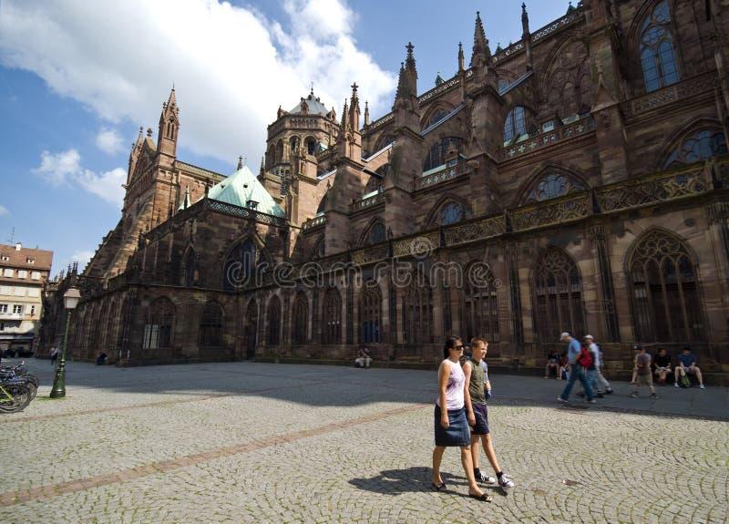 Straßburg Notre Dame lizenzfreies stockfoto