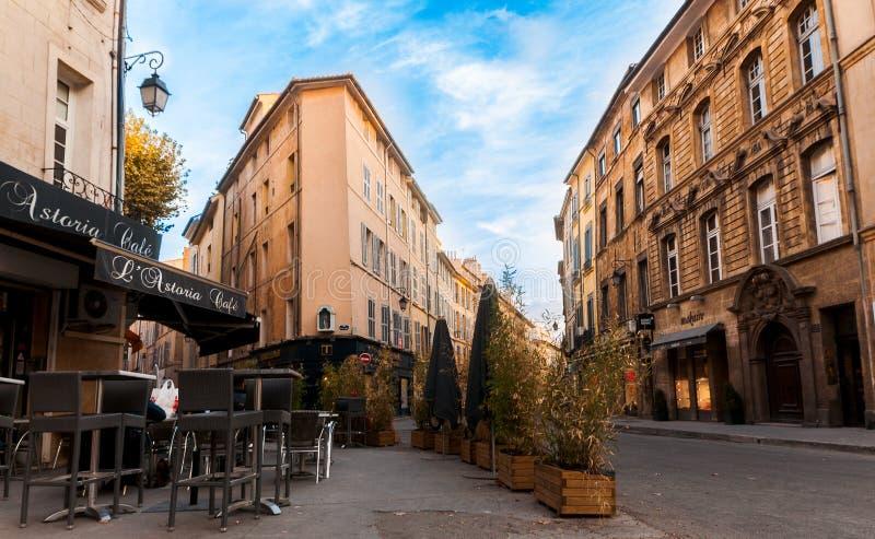 Straße Aix-en-Provence stockbild