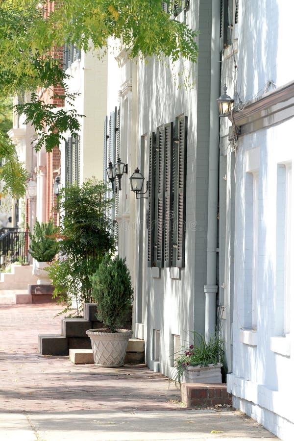 Straße in Alexandria, Virginia lizenzfreies stockfoto