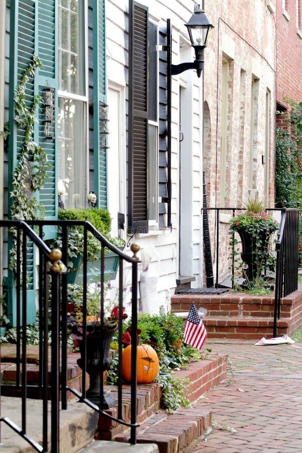 Straße in Alexandria, Virginia stockbild