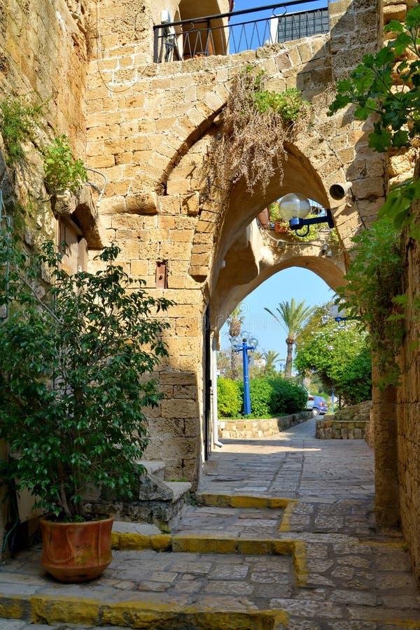 Straße in altem Yafo.tel aviv.israel lizenzfreie stockbilder