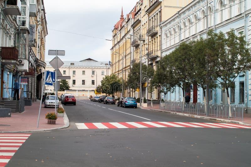 Straße auf Podil, Kiew lizenzfreie stockfotografie