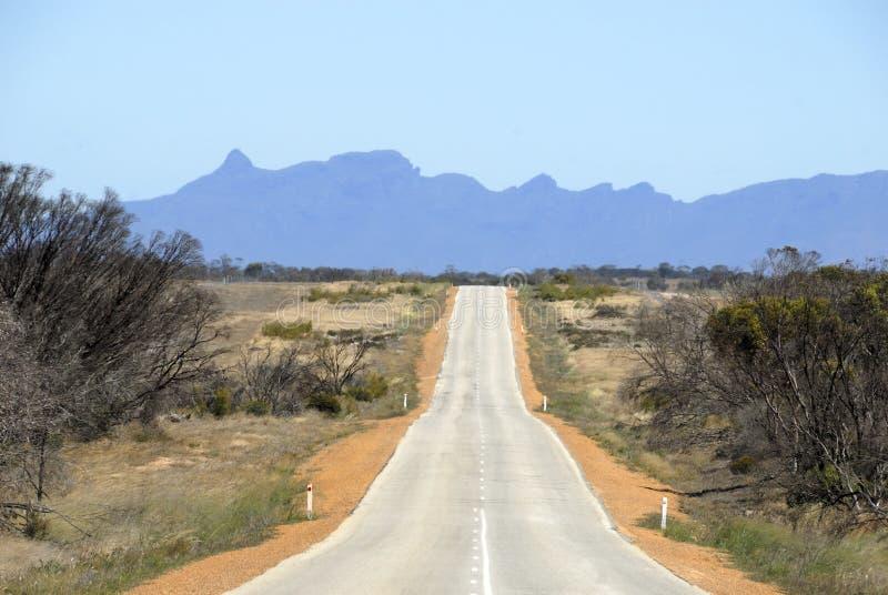 Straße in Australien stockfoto