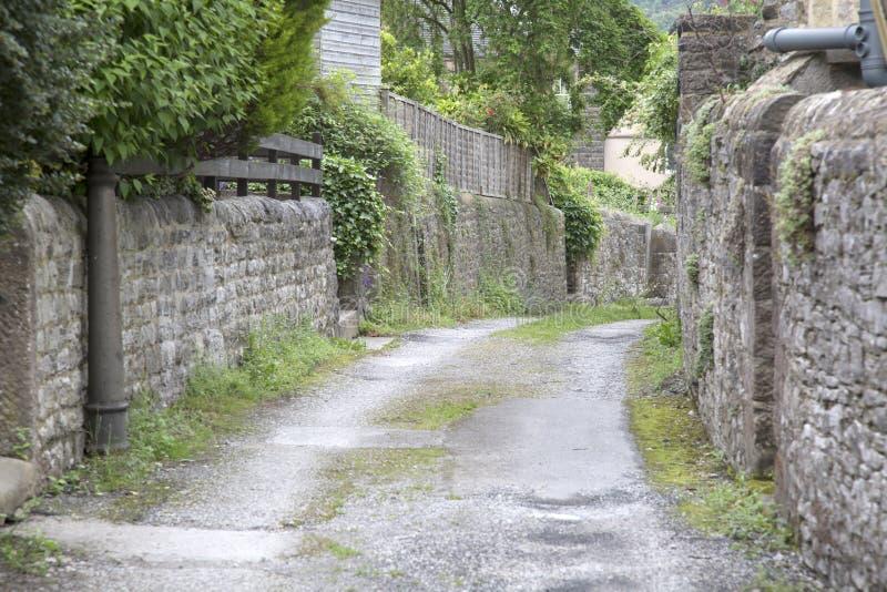 Straße in Bakewell; Höchstbezirk stockbilder