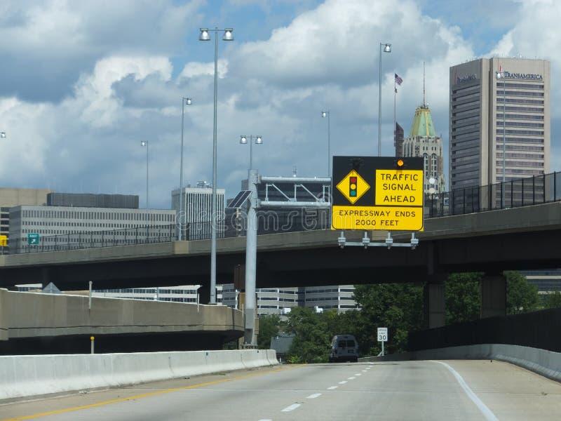 Straße in Baltimore, Maryland stockbild