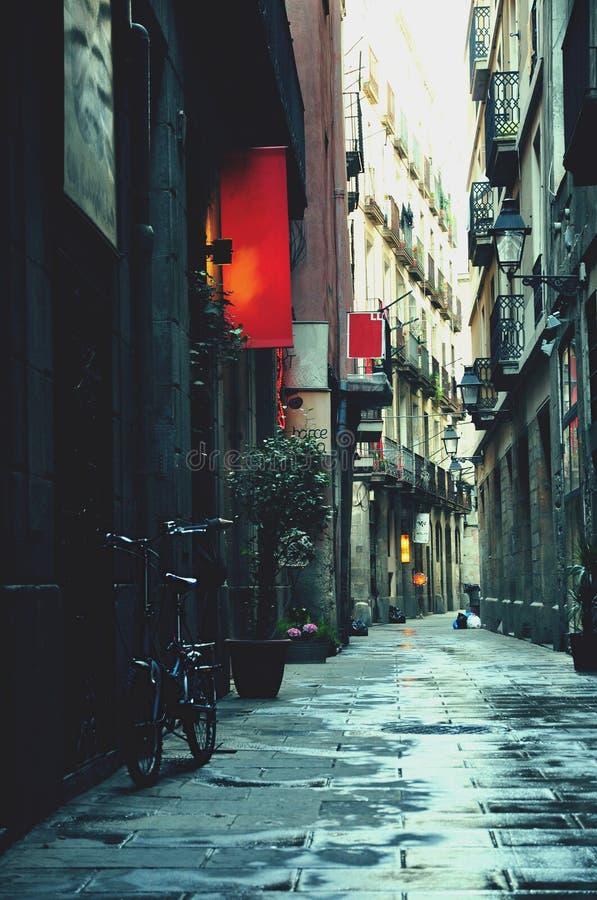 Straße in Barcelona stockbild