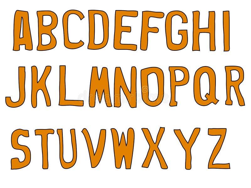 Straße bezeichnet A-Z mit Buchstaben stock abbildung