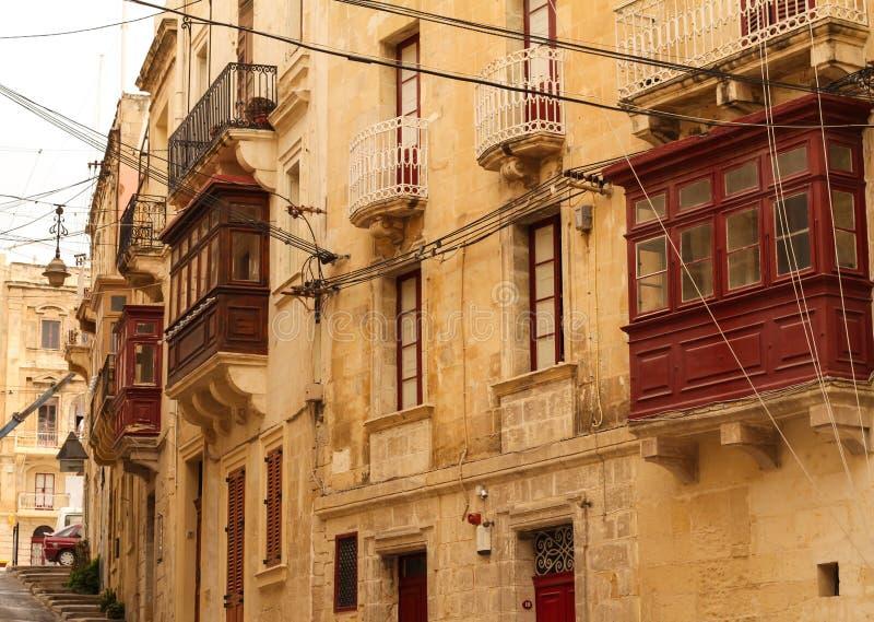 Straße in Birgu stockbild