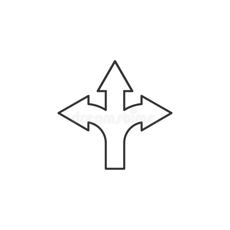 Straße bricht Ikone Element des Navigators unterzeichnet für bewegliche Konzept und Netz apps Dünne Linie Ikone für Websitedesign lizenzfreie abbildung