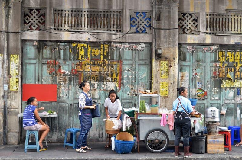 Straße in Chinatown-Bezirk, Bangkok stockfotos