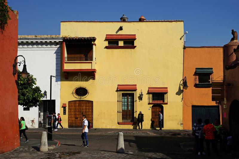 Straße in Cuernavaca, Mexiko stockbild