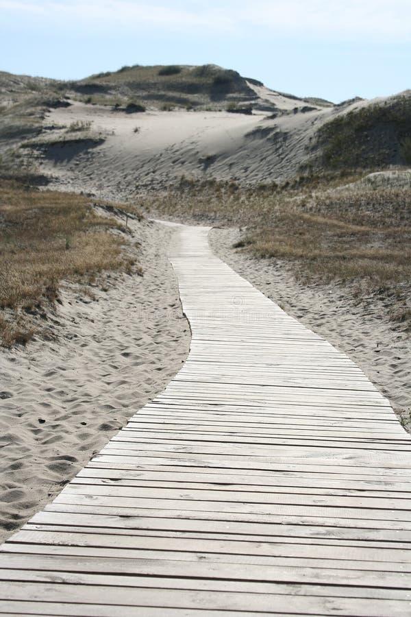 Straße in den Sand lizenzfreies stockbild