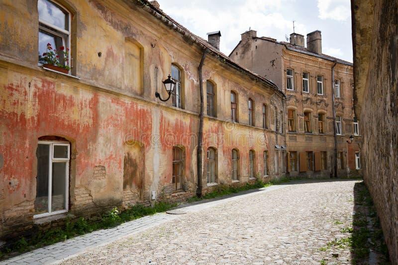 Straße in der alten Stadt lizenzfreies stockbild