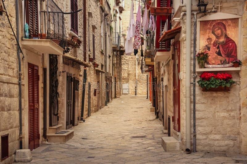Straße in der alten Stadt Ruvo-Di Puglia Apulien Italien lizenzfreie stockfotografie