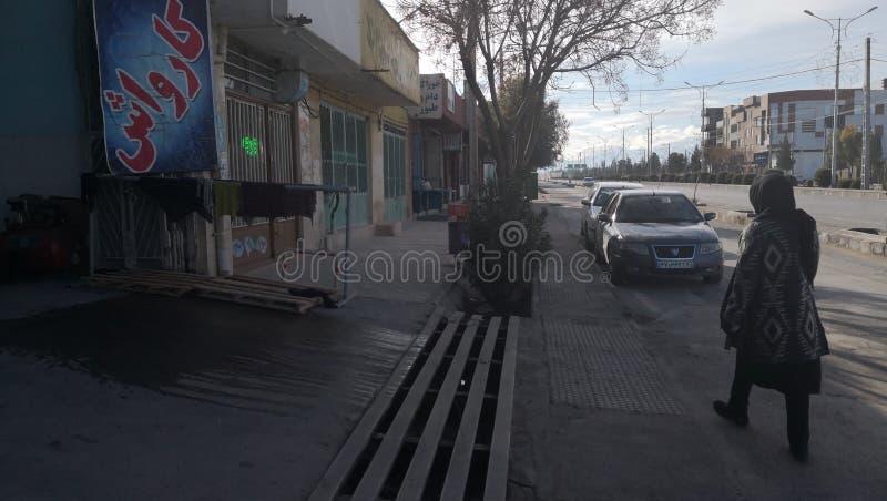 Straße der Iran Kerman stockfotos