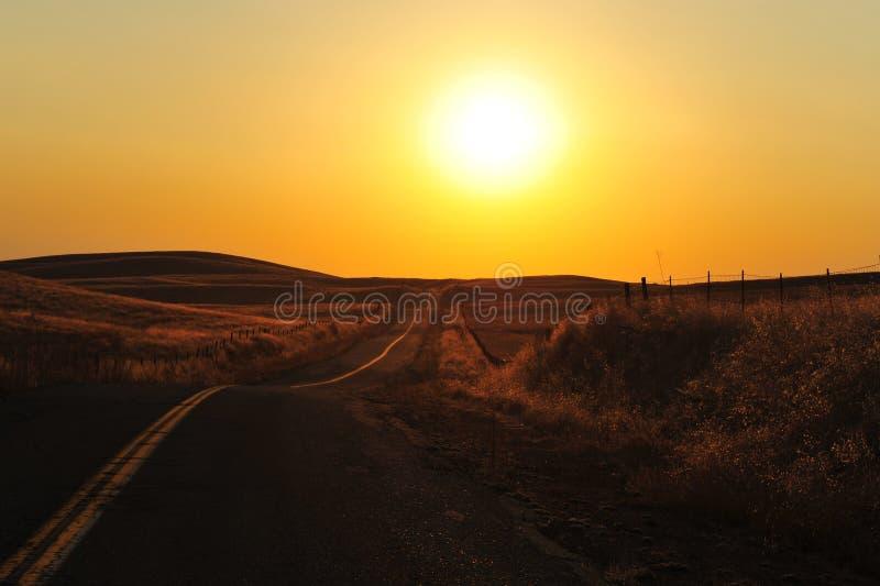 Straße in der Nevada-Wüste lizenzfreie stockfotos