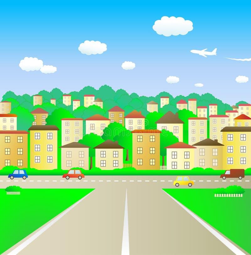 Straße in der Stadt lizenzfreie abbildung