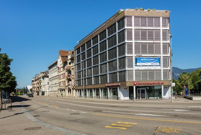 Straße in der Stadt von Solothurn, die Schweiz lizenzfreie stockbilder