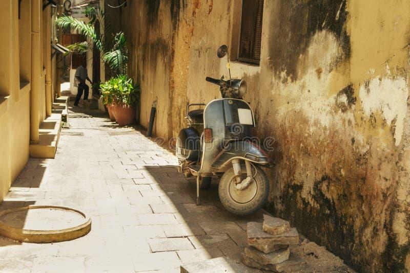 Straße der Steinstadt tanzania Sansibar-Insel stockfotografie