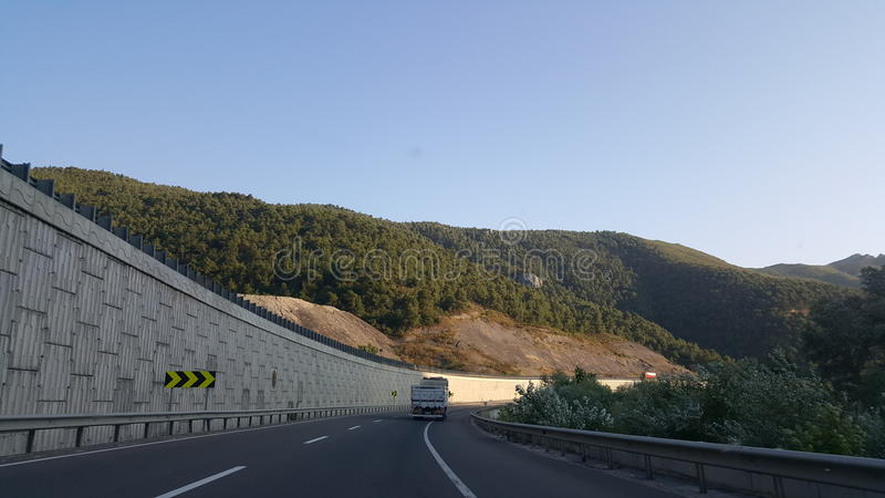 Straße in der Türkei stockbilder