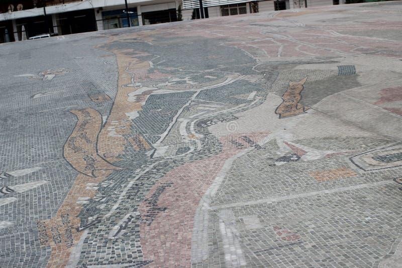 Straße in der Türkei Manavgat stockbild