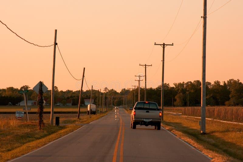 Straße des offenen Landes lizenzfreies stockfoto