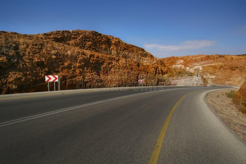 Straße des Toten Meers lizenzfreies stockfoto