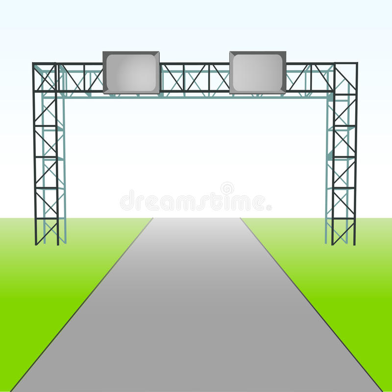 Straße für Ihren Transport mit Wegweiservektor lizenzfreie abbildung