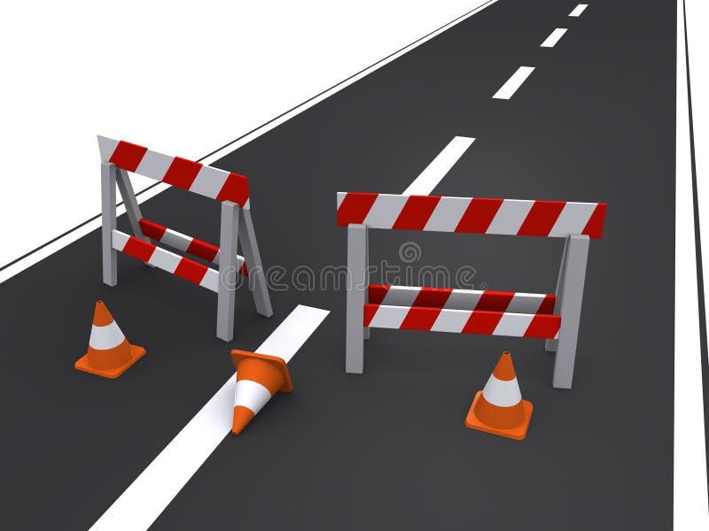 Straße geschlossen lizenzfreie abbildung