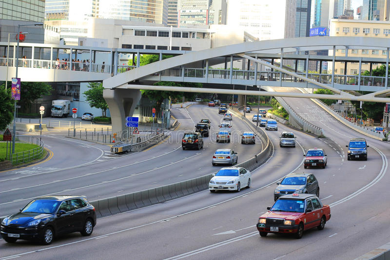 Straße, Höhe in Hong Kong lizenzfreies stockfoto