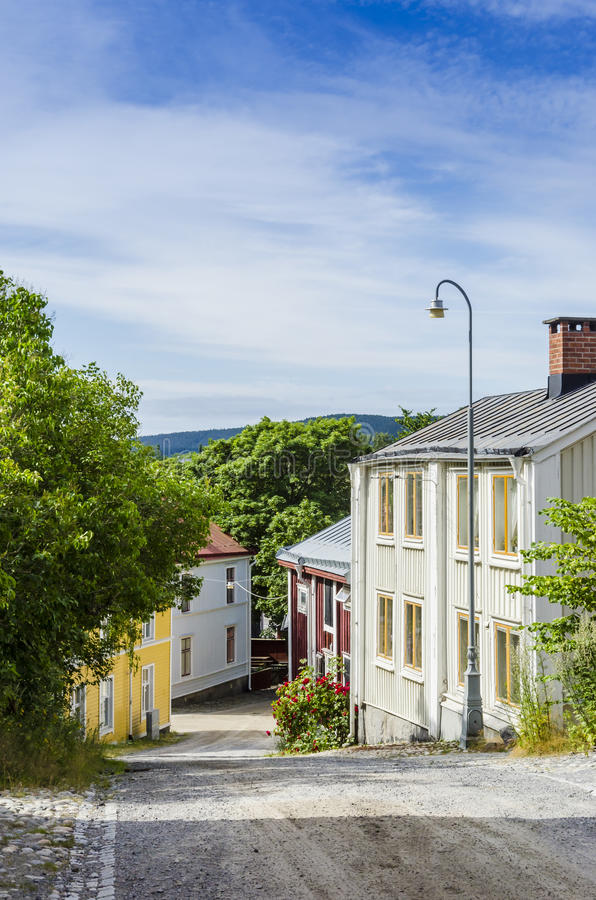 Straße in Harnosand lizenzfreie stockfotografie
