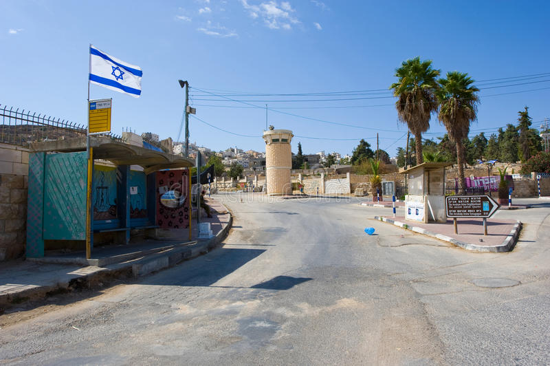 Straße in Hebron lizenzfreie stockfotos