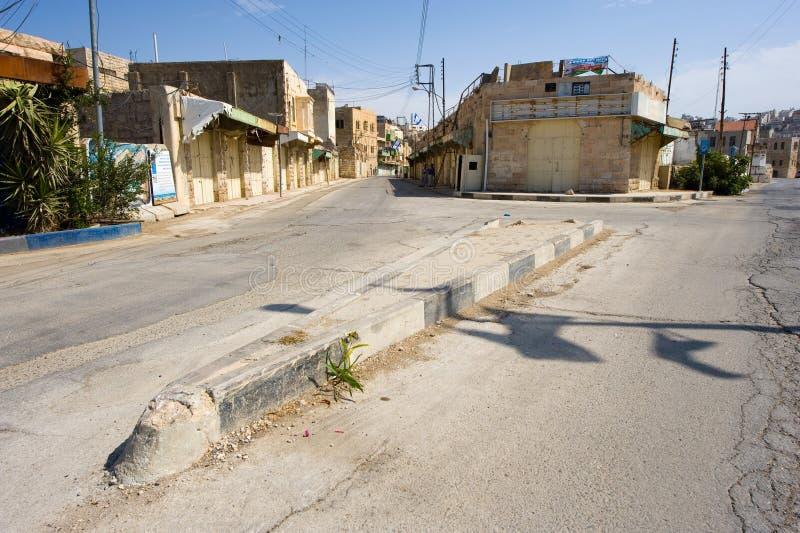 Straße in Hebron lizenzfreie stockfotografie