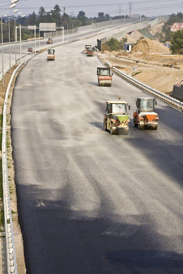 Straße im Bau stockbild
