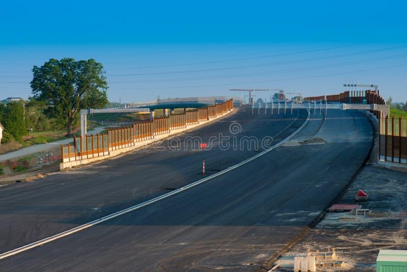 Straße im Bau stockfoto